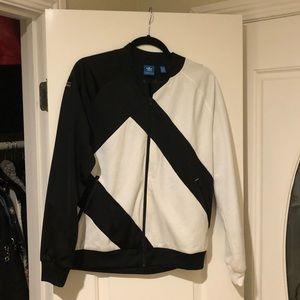 adidas Jackets & Coats - Adidas black & white zip-up jacket